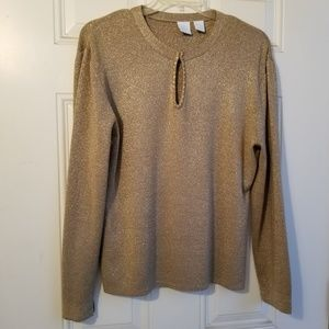 Gold Sparkle  Sweater/Top (Lame')